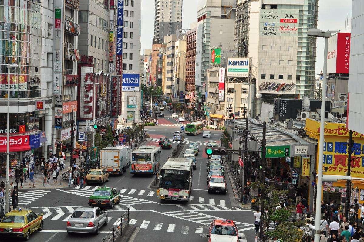 Chaos drogowy na ulicach Tokio